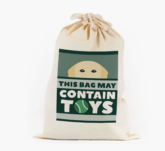 Personalised 'May Contain Toys' Toy Sack for your Golden Retriever
