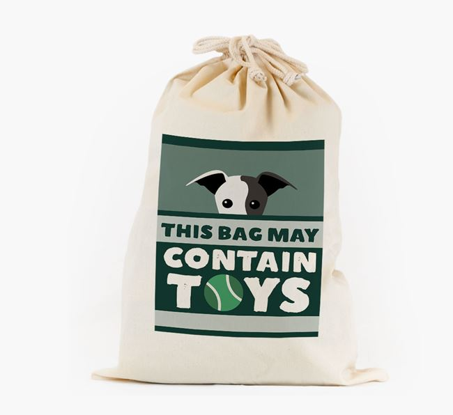 Personalised 'May Contain Toys' Toy Sack for your Greyhound