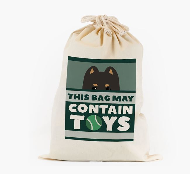 Personalised 'May Contain Toys' Toy Sack for your Pomeranian
