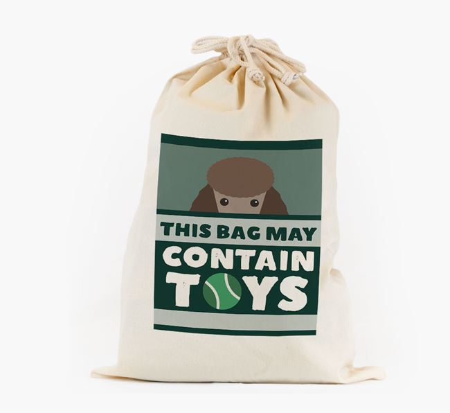 Personalised 'May Contain Toys' Toy Sack for your Poodle