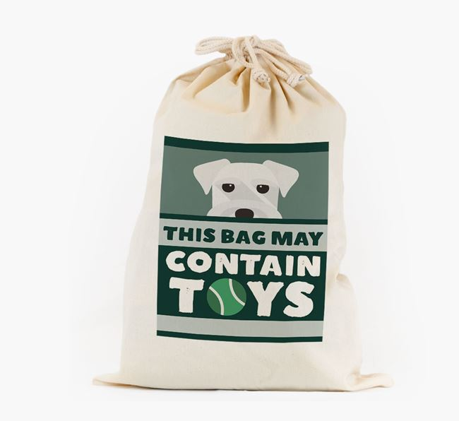 Personalised 'May Contain Toys' Toy Sack for your Schnauzer