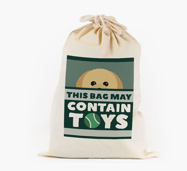 Personalised 'May Contain Toys' Toy Sack for your Toy Poodle