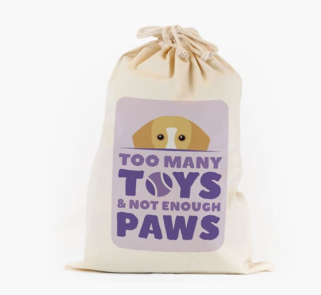 Personalised 'Not Enough Paws' Toy Sack for your Bassador