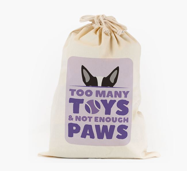 Personalised 'Not Enough Paws' Toy Sack for your Dog