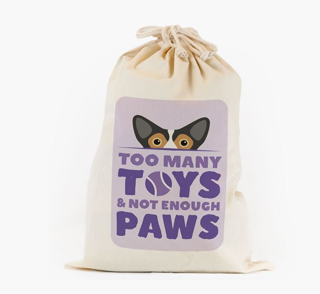 Personalised 'Not Enough Paws' Toy Sack for your Corgi