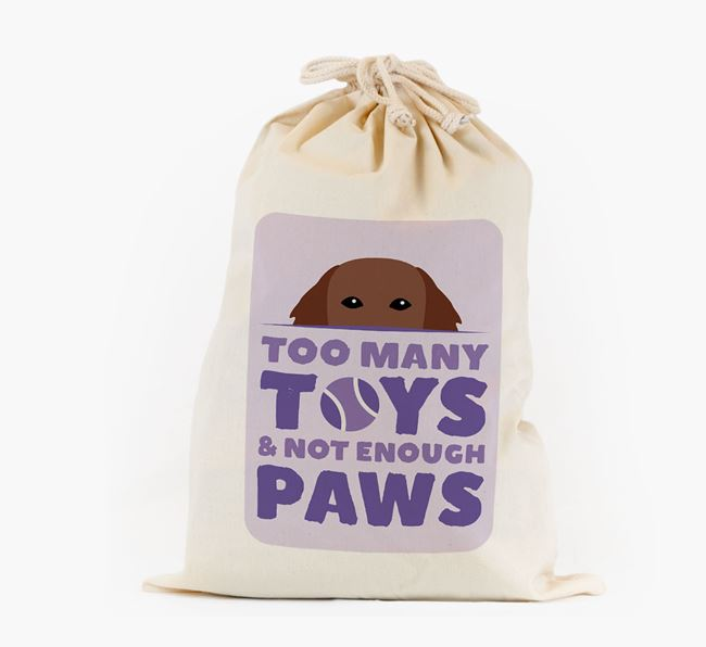 Personalised 'Not Enough Paws' Toy Sack for your Flat-Coated Retriever