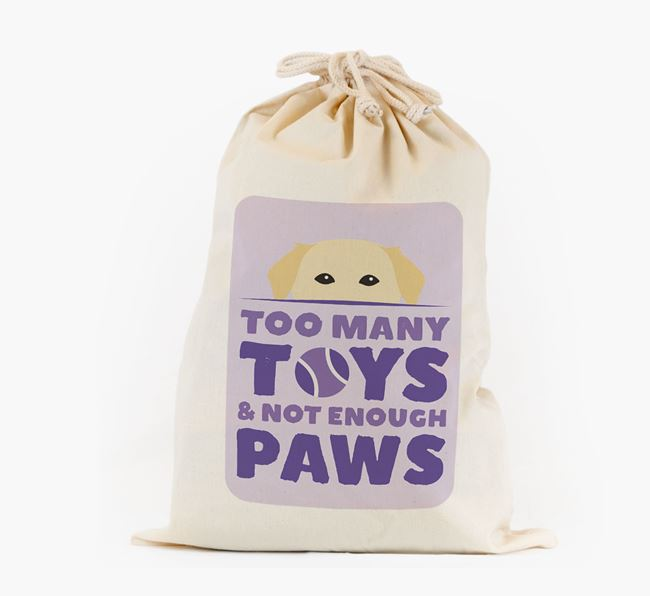 Personalised 'Not Enough Paws' Toy Sack for your Golden Labrador