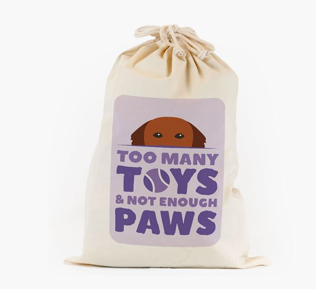 Personalised 'Not Enough Paws' Toy Sack for your Golden Retriever