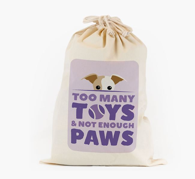 Personalised 'Not Enough Paws' Toy Sack for your Greyhound