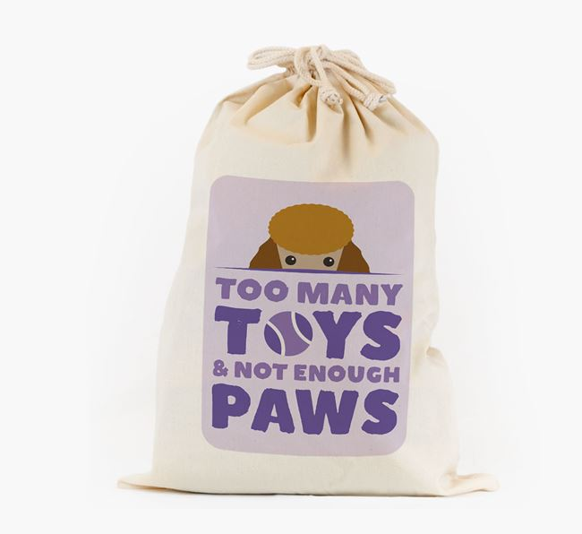 Personalised 'Not Enough Paws' Toy Sack for your Poodle