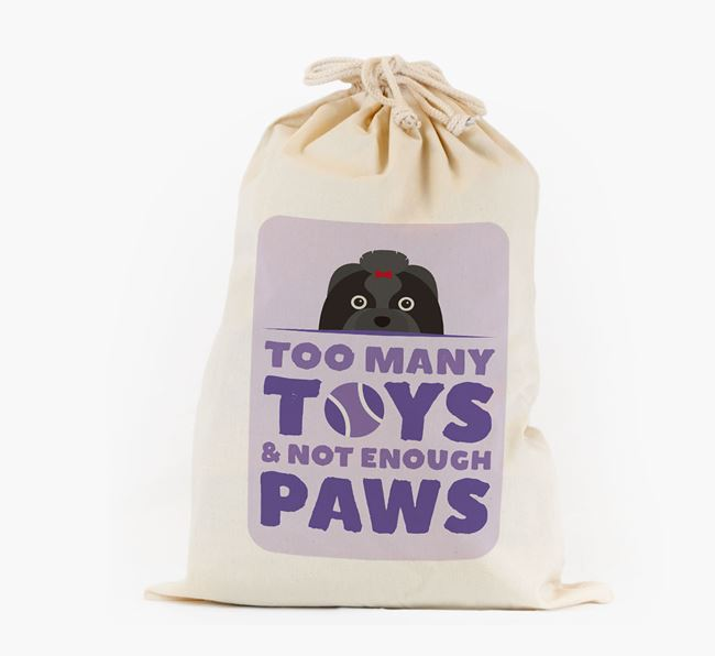Personalised 'Not Enough Paws' Toy Sack for your Shih Tzu
