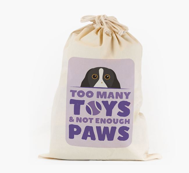 Personalised 'Not Enough Paws' Toy Sack for your Springer Spaniel