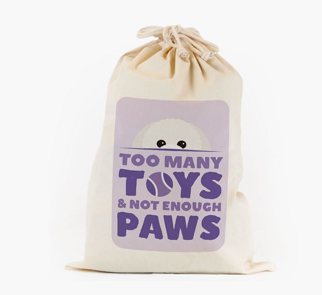 Personalised 'Not Enough Paws' Toy Sack for your Toy Poodle