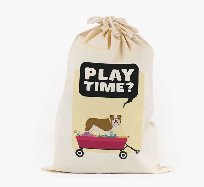 Personalised 'Play Time?' Toy Sack for your Dog