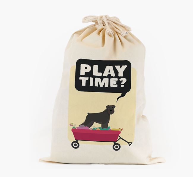 Personalised 'Play Time?' Toy Sack for your Schnauzer