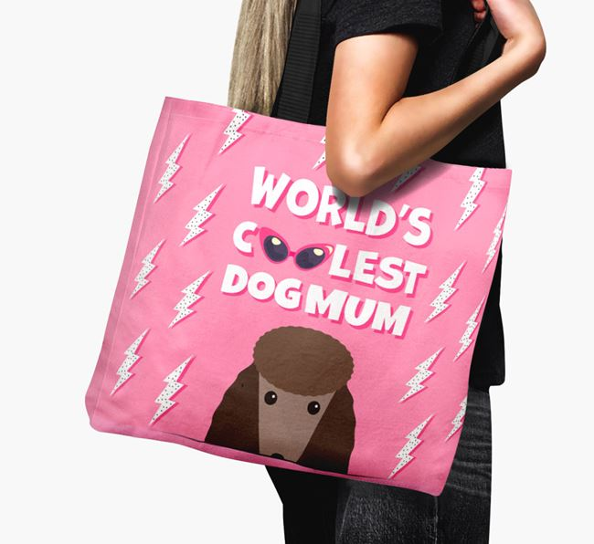 'World's Coolest Dog Mum' - Personalised Poodle Canvas Bag