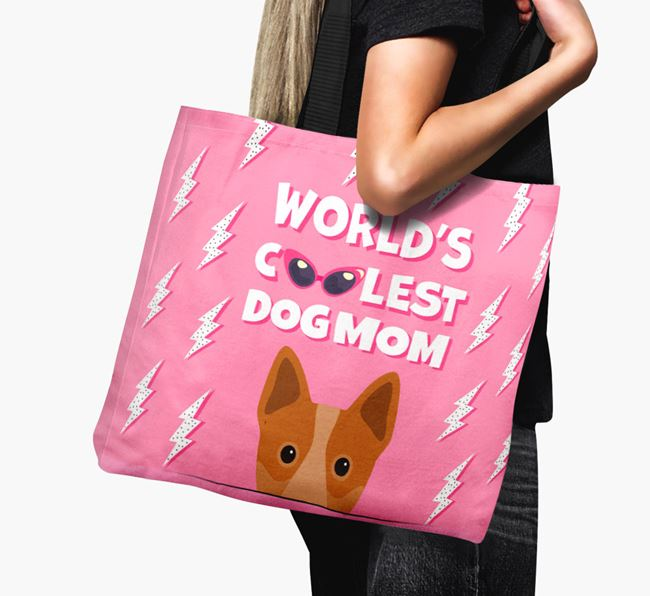 'World's Coolest Dog Mom' - Personalized Australian Cattle Dog Canvas Bag