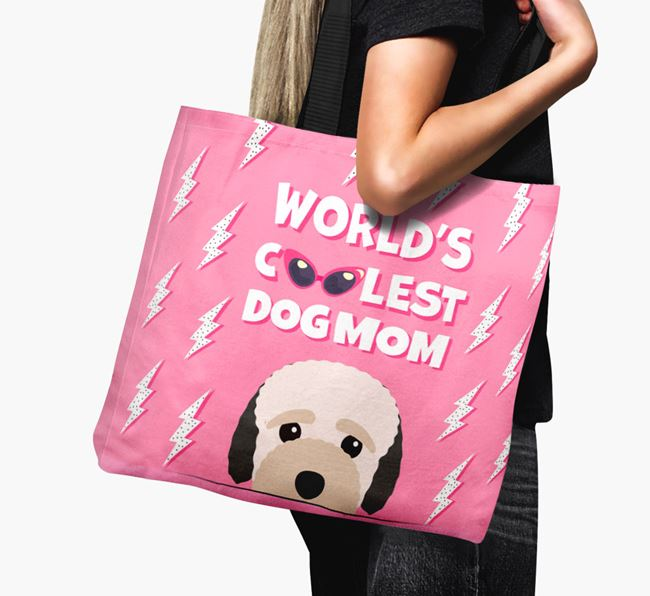 'World's Coolest Dog Mom' - Personalized Bich-poo Canvas Bag