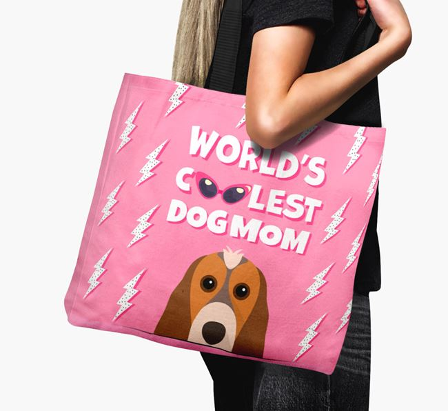 'World's Coolest Dog Mom' - Personalized Cocker Spaniel Canvas Bag