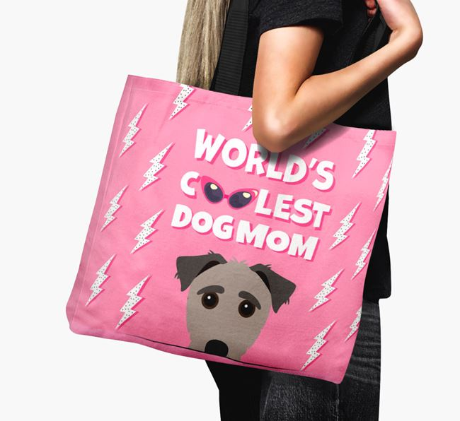 'World's Coolest Dog Mom' - Personalized Jack-A-Poo Canvas Bag