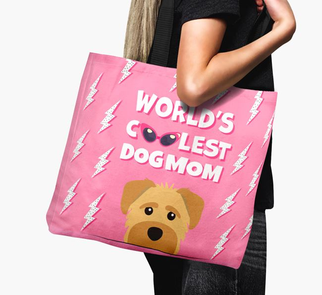 'World's Coolest Dog Mom' - Personalized Schnoodle Canvas Bag
