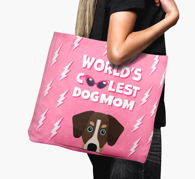 'World's Coolest Dog Mom' - Personalized Siberian Cocker Canvas Bag