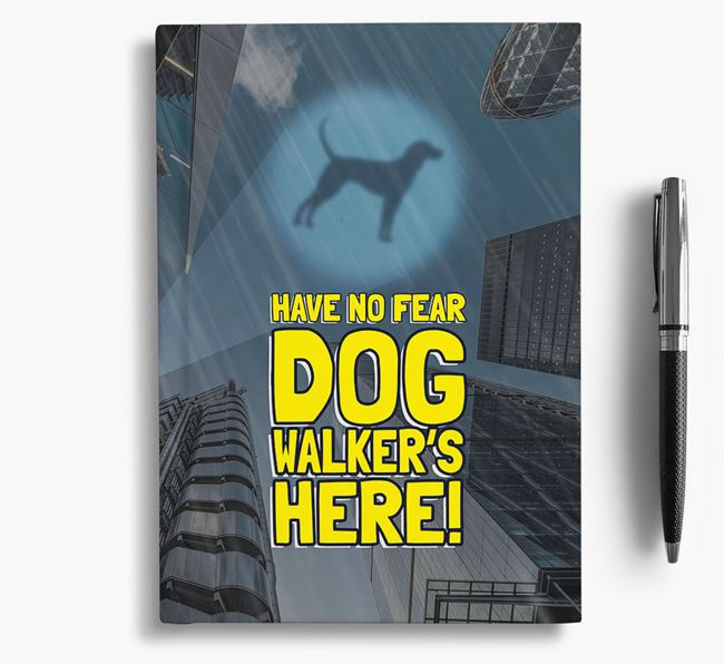 'Have No Fear' - Personalized Black and Tan Coonhound Notebook