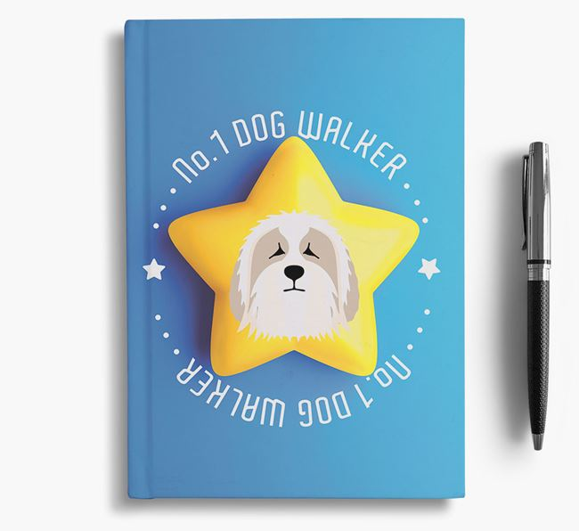 No.1 Dog Walker - Personalized Bearded Collie Notebook
