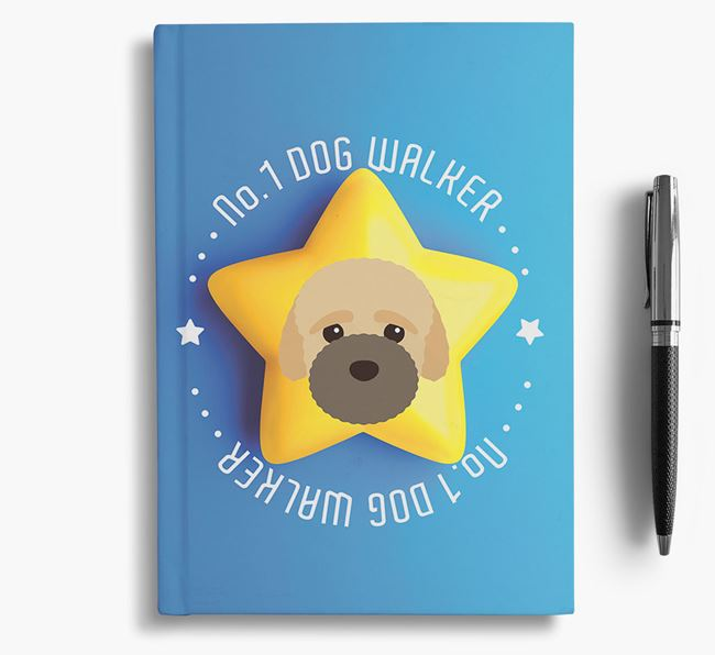 No.1 Dog Walker - Personalized Bich-poo Notebook