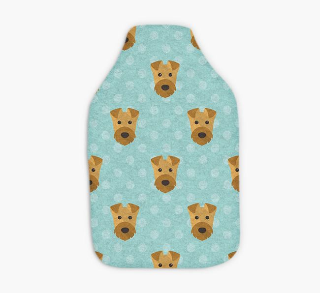Hot Water Bottle with Airedale Yappicons