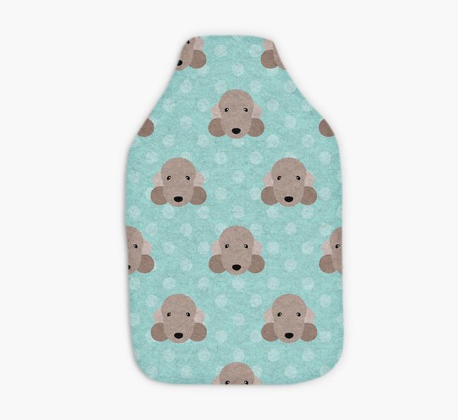 Hot Water Bottle with Bedlington Yappicons