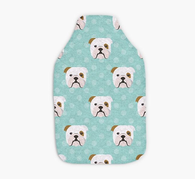Hot Water Bottle with Bulldog Yappicons