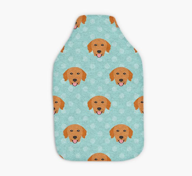 Hot Water Bottle with Golden Retriever Yappicons