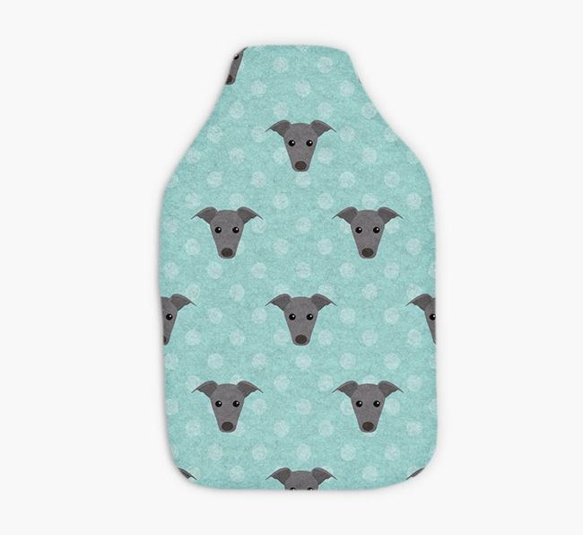 Hot Water Bottle with Greyhound Yappicons