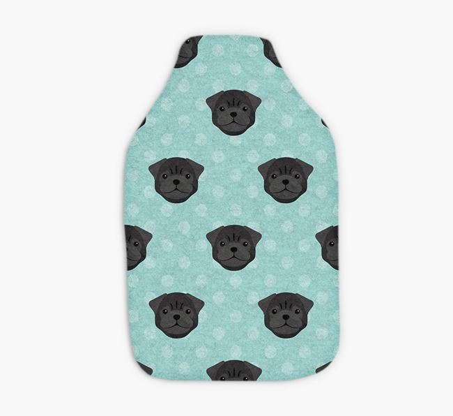 Hot Water Bottle with Pug Yappicons