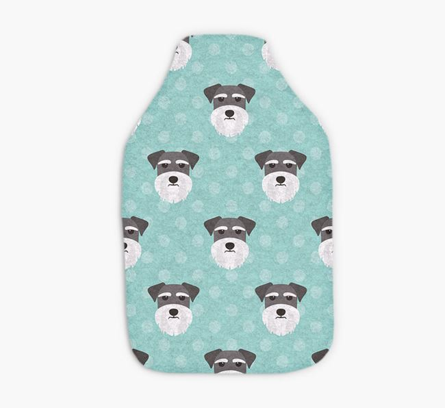 Hot Water Bottle with Schnauzer Yappicons