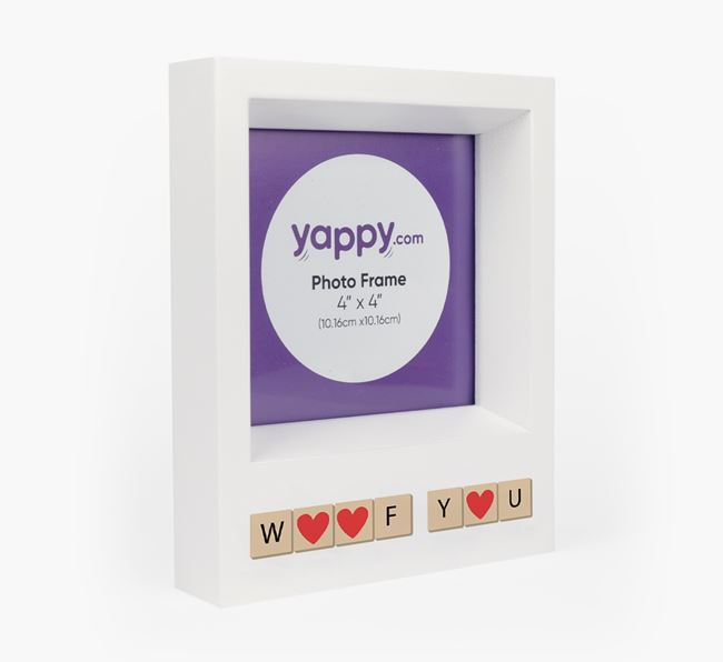'Woof You' - Personalised Golden Retriever Photo Frame
