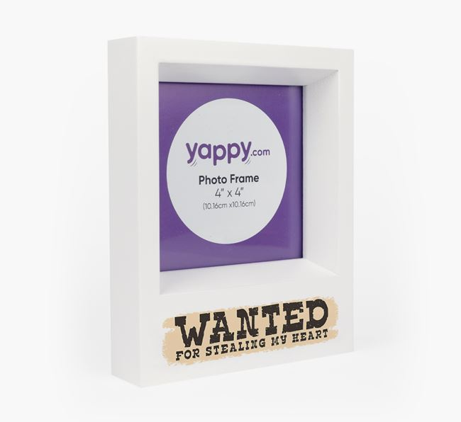 'Wanted' - Personalised Poodle Photo Frame