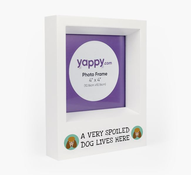 'A Spoiled Dog Lives Here' - Personalised Poodle Photo Frame