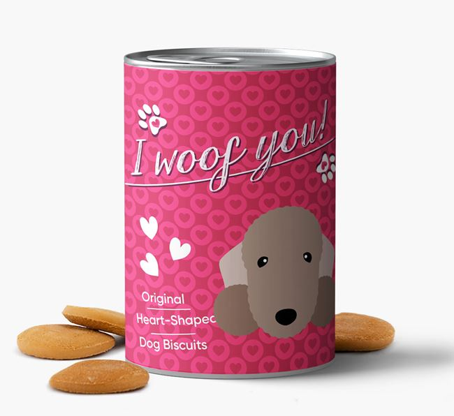 'I Woof You' Heart-Shaped Biscuits