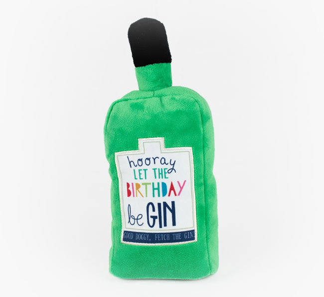 Birthday Gin Dog Toy for your Tamaskan