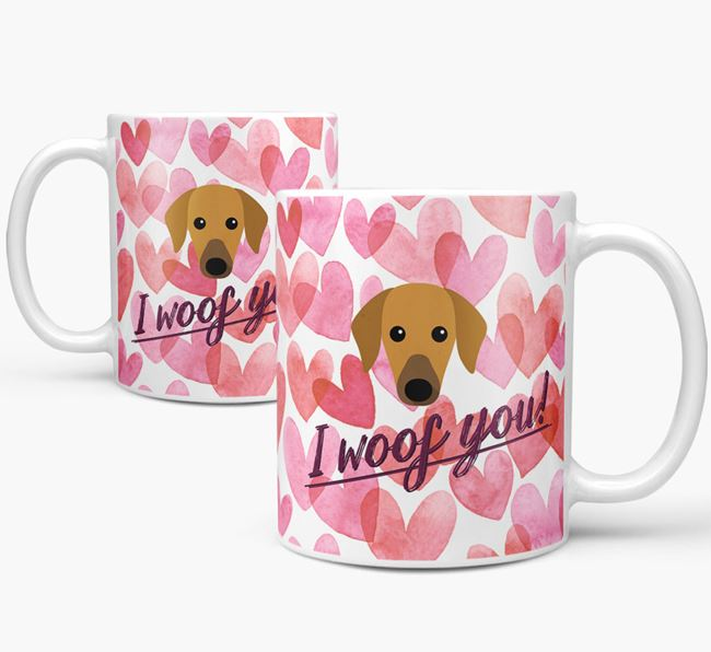 'I Woof You'Azawakh Icon Mug