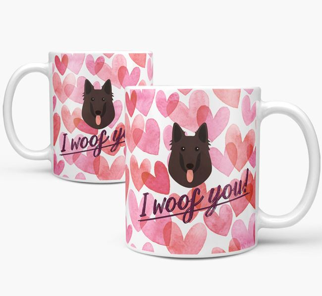 'I Woof You'Belgian Shepherd Icon Mug