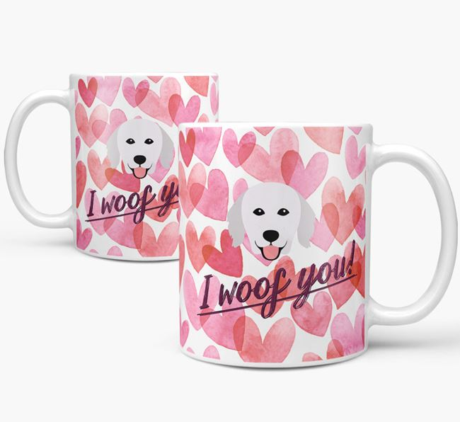 'I Woof You'Kuvasz Icon Mug