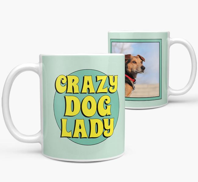 'Crazy Dog Lady' - Bracco Italiano Photo Upload Mug
