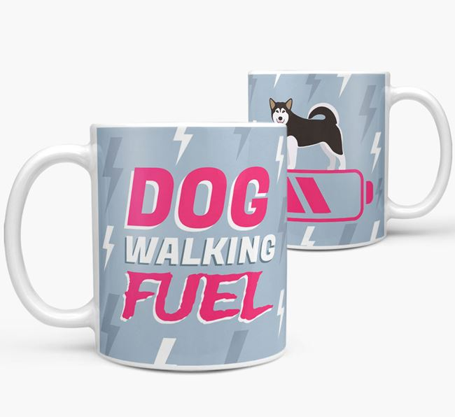'Dog Walking Fuel' - Personalized Alaskan Malamute Mug