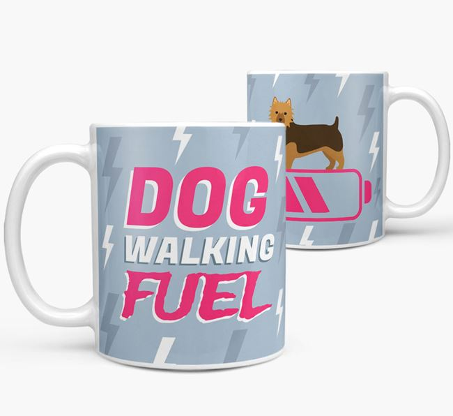 'Dog Walking Fuel' - Personalized Australian Terrier Mug