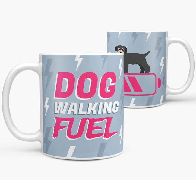 'Dog Walking Fuel' - Personalized Bichon Yorkie Mug