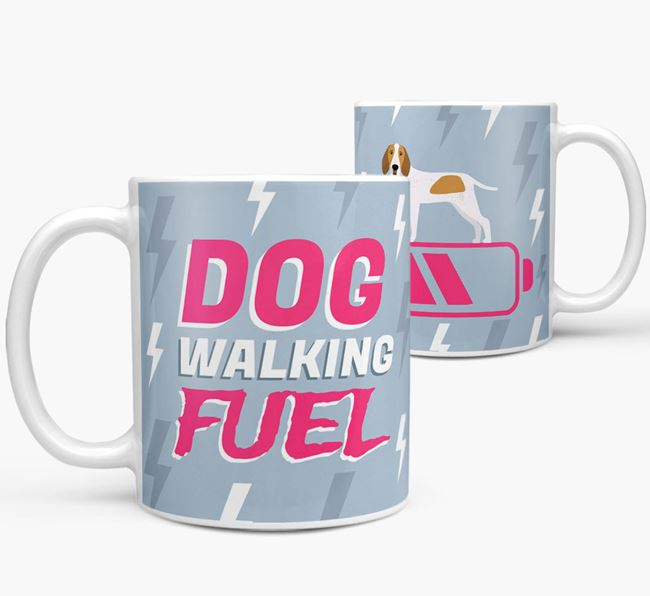 'Dog Walking Fuel' - Personalized Bracco Italiano Mug