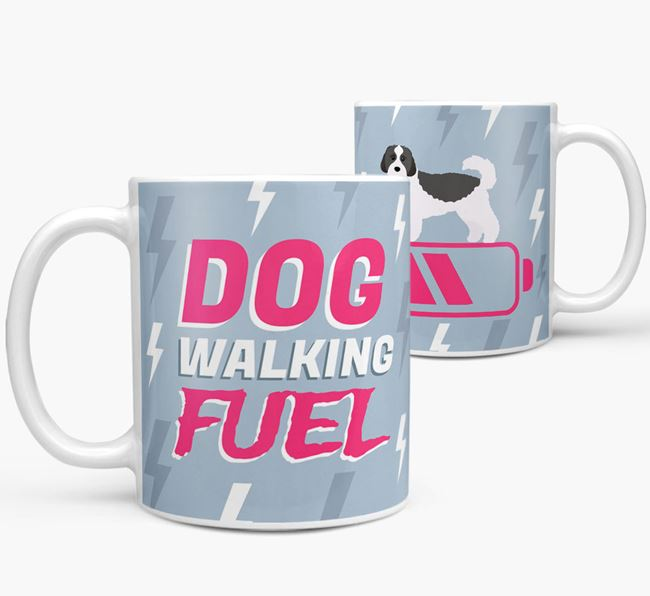'Dog Walking Fuel' - Personalized Cavachon Mug